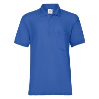 "Поло ""65/35 Pocket Polo"", ярко-синий_S, 65% п/э, 35% х/б, 180 г/м2"