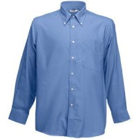 "Рубашка ""Long Sleeve Oxford Shirt"", синий_2XL, 70% х/б, 30% п/э, 135 г/м2"